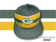 GREEN BAY PACKERS VINTAGE CLASSIC RETRO STRIPED SNAPBACK HAT