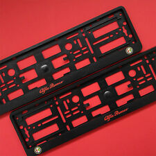 New Pair Alfa Romeo Number Plate Surrounds Holder Frame For Alfa Romeo Cars