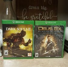 NEW Dark Souls III and Deus Ex Mankind Divided Day 1 Edition Xbox One Games Lot