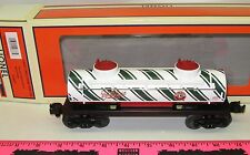 New Lionel 6-29637 Candy Cane 2-Dome Tank Car