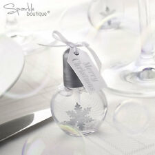 Shimmering Snowflake Bubbles x 6 - Christmas Party or Winter Wedding Favours