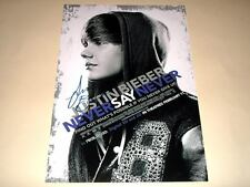 "JUSTIN BIEBER PP SIGNED 12X8"" POSTER NEVER SAY NEVER"