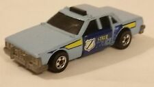 1983 Hot Wheels Crack-Ups State Police Car Blue Blackwalls Rare Malaysia Mattel