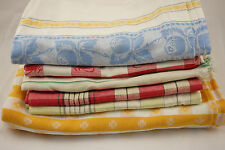 Lot 6 Vintage Tablecloths Red White Check Yellow Plaids & More