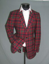 Superb Vintage Two Buttons Red Plaid Pendelton Men Jacket Immaculate 38 Long