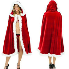 New Christmas Adult Ladies Mrs Santa Claus Fancy Dress Costume Cloak Cape