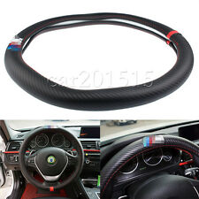 38cm M Performance Carbon Fiber Non-Slip Luxury Car Steering Wheel Cover for BMW
