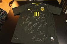 Brazil National Team 15/16 3rd Kit #10 Neymar Jr. with Team Signature + COA