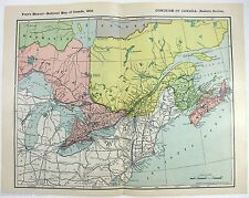 Original 1903 Railroad Map of The Dominion of Canada - Eastern Section