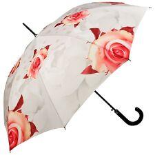 Regenschirm Automatik Rosen creme Blumen Hochzeit Braut Damen Blüte 5210A