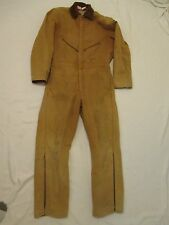 USA Made Vtg Mens Large Tall Walls Blizzard Pruf Duck Brown Insulated Coveralls