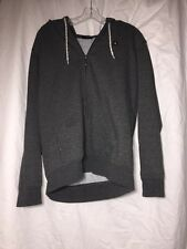 Rip Curl Quality Surf Products Grey Hoodie Jacket With Drawstring Long Sleeve