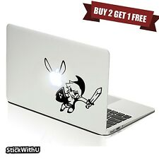 Macbook Air Pro Vinyl Skin Sticker Decal Legend Of Zelda Game Link Navi m798