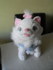 """disney exclusive Marie aristocats 12"""" with blue coat soft toy cat"""