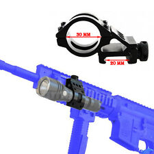30mm Clamp 20mm Picatinny Weaver Rail Offset Mount Flashlight Torch Laser Scope