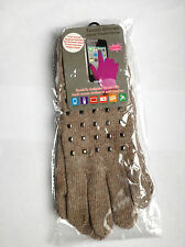 LADIES FASHION TEXTING TOUCH SCREEN GLOVES FOR  SMART PHONE, IPAD* KHAKI