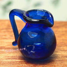 Dollhouse Miniature 1:12 Toy Kitchen Dining Room A Blue Glass Pot Jar H2cm BGP