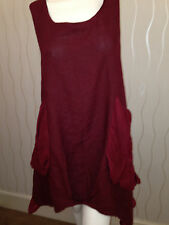 Dress/Tunic Lagenlook PLUS SIZE Asymmetrical in Plum-Made in Italy