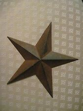 "12"" Rustic Black Barn Star Metal Primitive"