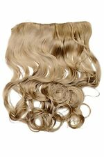 Clip-In Extension Haarverlängerung breit hitzefest 5 Clip lockig Locken Blond