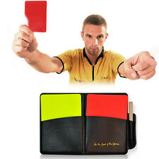 Red Card Yellow Card Soccer Referee Supplies With Holster And Pen Equipment
