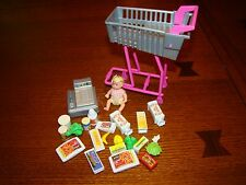 Talking Barbie Doll Huge Lot Toy Food midge baby Items Shopping Grocery Store