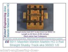 EE 5011 GD Maerklin Märklin Marklin HO 3R 3 Rail Stubby Straight Track 3600D1/8