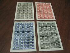 1963 conjuntos de Bradbury Castillo wmk 4 Hojas Completa 10/5/- £ 1 2/6 SG 595a - 598a