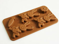 Rabbit Bunny Carrot Easter Silicone Chocolate Crayon Soap Mould Wax Soap Resin