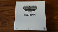 Masters of Universe Classics Great Unrest Weapons Pak Pack Accessories MOTU