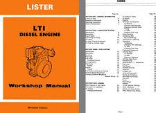 Lister LT1 Diesel Engine Workshop Manual