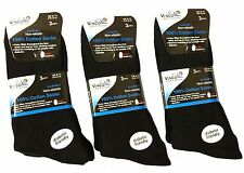12 x Pair New Mens Vinco Grip Socks Non Elastic Soft Top Diabetic Black