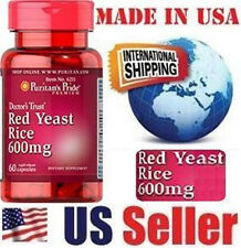 Puritan's Pride RED YEAST RICE - 600 mg - 60 Capsules - LOWER CHOLESTEROL