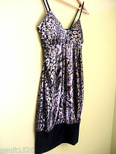 NWT Hazel Designer Sexy Leopard Gold Shimmer Black White Cheetah Club Top S $168