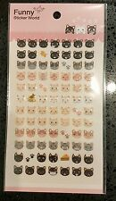 Puffy Cat Sticker Sheet 3D Raised 84 Cute Individual Stickers Craft Scrapbook