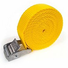 10 Buckled Straps 25mm Cam Buckle 2.5 meters Long Heavy Duty Load Yellow 250kg