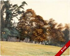 CASTLE HOWARD GROUNDS IN FALL YORKSHIRE ENGLAND PAINTING ART REAL CANVAS PRINT
