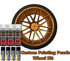 DYC Plasti Dip Pearl Wheel Kit 4 Matte Black 3 Burnt Copper Alloy Aerosol Cans