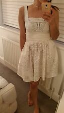 Kate Moss Topshop Cream Beaded Chick Style Summer Dress 8/10/12 BNWT