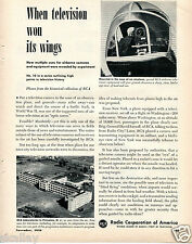1950 Print Ad of RCA Labs in Princeton NJ Airborne Television Airplane Mounted