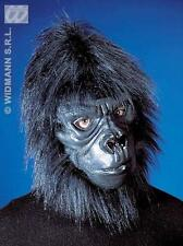 Black Gorilla Mask Zoo Animal Monkey Ape Chimp Stag Party Fancy Dress