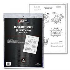 "Document Holder Sleeves 8.5""x11"" 100 Count Pack [NEW] Case PIcture Cover Pic BCW"