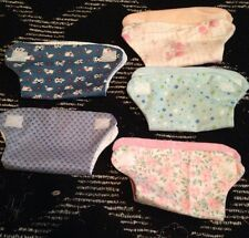 """DOLL CLOTHES  DOLL DIAPERS SET OF 5 FITS SIZE15"""" 16"""" 17""""  DOLL SET"""