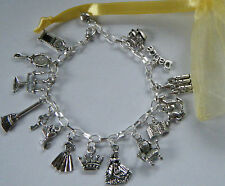 Beauty and The Beast Princess Belle Theme Charm Bracelet Party Bag Gift