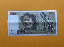 100 FRANCS 1987 DELACROIX BILLET FRANÇAIS en ETAT pr.SPL -