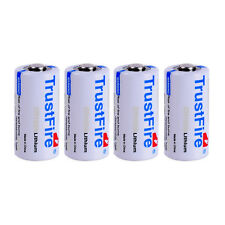 4pcs CR123A 16340 Lithium Li-ion Batteries Trustfire 3V Battery 1400mAh From USA
