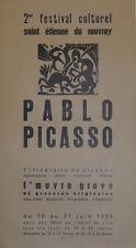 """""""PABLO PICASSO / EXPO SAINT ETIENNE DU ROUVRAY 1964"""" Affiche originale entoilée"""