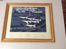 VINTAGE 1980'S USAF THUNDERBIRDS ORIGINAL, SIGNED FRAMED PRESENTATION TO GENERAL