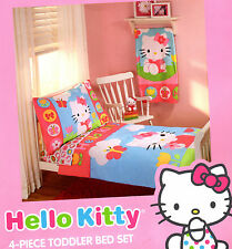 Hello Kitty 4-Pc Toddler Bedding set