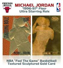 MICHAEL JORDAN 1996-97 Fleer Ultra Starring Role FEEL THE GAME 23KT Gold Card